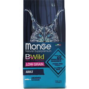 Сухой корм Monge BWild Adult Cat Low Grain Anchovies низкозерновой с анчоусами для взрослых кошек 1,5кг lcd display touch screen digitizer assembly with frame for sony xperia z1 mini compact d5503 z1c m51w free shipping black