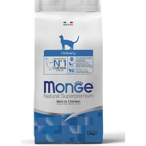Сухой корм Monge Cat Urinary Rich in Chicken с курицей профилактика МКБ для кошек 1,5кг каждый день консервированный корм для кошек каждый день с курицей профилактика мочекаменной болезни 325 г