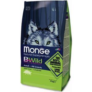 Сухой корм Monge BWild Adult Dog All Breed Wild Boar с мясом дикого кабана для взрослых собак всех пород 2кг