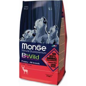 Сухой корм Monge BWild Puppy All Breed Deer с мясом оленя для щенков всех пород 2кг