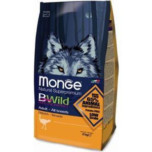 Сухой корм Monge BWild Adult Dog All Breed Ostrich с мясом страуса для взрослых собак всех пород 2кг