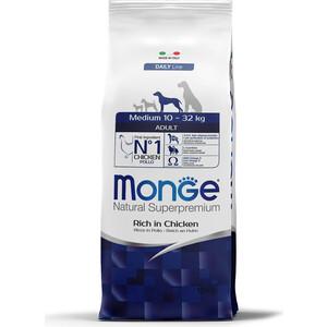Сухой корм Monge Daily Line Adult Dog Medium Rich in Chicken с курицей для взрослых собак средних пород 12кг