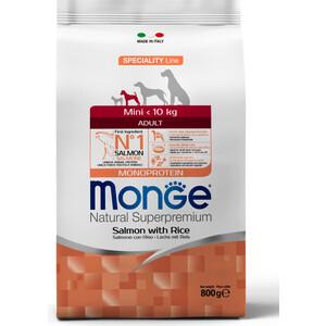 Сухой корм Monge Speciality Line Adult Dog Mini Salmon and Rice с лососем и рисом для взрослых собак мелких пород 800г фурминатор для собак короткошерстных пород furminator short hair large dog