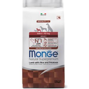 Сухой корм Monge Speciality Line Adult Dog Mini Lamb, Rice and Potatoes с ягненком, рисом и картофелем для взрослых собак мелких пород 2,5кг