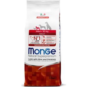 Сухой корм Monge Speciality Line Adult Dog Mini Lamb, Rice and Potatoes с ягненком, рисом и картофелем для взрослых собак мелких пород 7,5кг