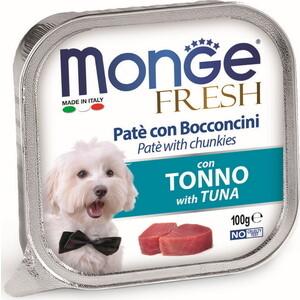 Консервы Monge Dog Fresh Pate and Chunkies with Tuna паштет и кусочки с тунцом для собак 100г