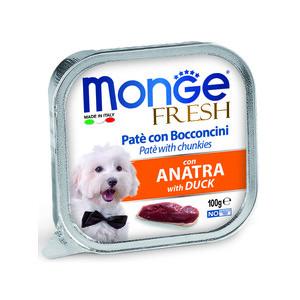 Консервы Monge Dog Fresh Pate and Chunkies with Duck паштет и кусочки с уткой для собак 100г monge корм для собак monge monoproteico solo паштет оленина конс 150г