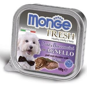 Консервы Monge Dog Fresh Pate and Chunkies with Lamb паштет и кусочки с ягненком для собак 100г monge корм для собак monge monoproteico solo паштет оленина конс 150г