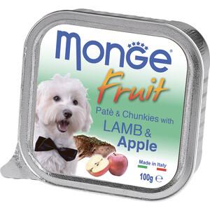 Консервы Monge Dog Fruit Pate and Chunkies with Lamb & Apple паштет и кусочки с ягненком и яблоком для собак 100г monge корм для собак monge monoproteico solo паштет оленина конс 150г