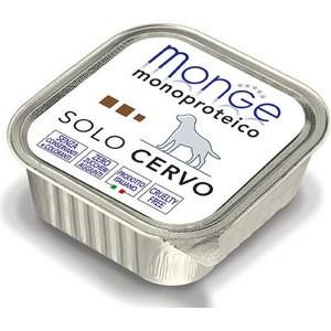 Консервы Monge Dog Monoproteico Solo Pate Venison паштет из оленины для собак 150г monge корм для собак monge monoproteico solo паштет оленина конс 150г