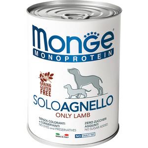Консервы Monge Dog Monoproteico Solo Pate Lamb паштет из ягненка для собак 400г корм для собак happy dog ягненок с рисом нежный паштет конс 400г