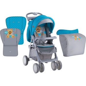 Прогулочная коляска Lorelli FOXY + накидка на ножки Сине-серый / Blue&Grey Hello Bear 1718 inov 8 кроссовки roclite 295 жен 3 grey berry blue