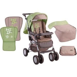 все цены на  Прогулочная коляска Lorelli COMBI + накидка на ножки Зелено-бежевый / Green&Beige Zephyr 1650  онлайн