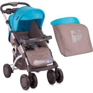 Прогулочная коляска Bertoni APOLLO+ накидка на ножки Бежево-синий / Beige&Blue Giraffe 1643