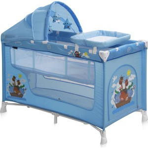 купить  Манеж Lorelli NANNY 2 PLUS Rocker Синий / Blue Adventure 1610  недорого