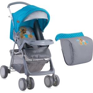 Прогулочная коляска Lorelli TERRA + накидка на ножки Сине-серый / Blue&Grey Hello Bear 1718