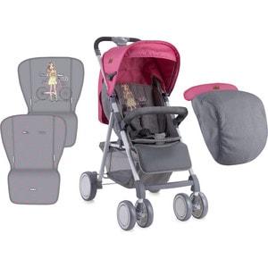 Прогулочная коляска Lorelli AERO+ накидка на ножки Розово-серый / Rose&Grey Girl 1740 розово бежевый