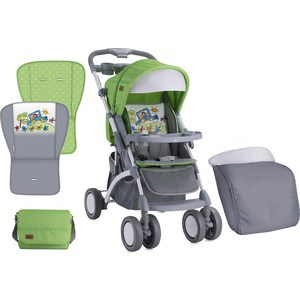 Прогулочная коляска Bertoni APOLLO+ накидка на ножки Зелено-серый / Green&Grey Car 1714 crocodile shaped eraser green grey 2 pcs