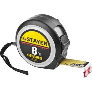 Рулетка Stayer 8м х 25мм Grand (3411-08-25) лента stayer profi клейкая противоскользящая 50мм х 5м 12270 50 05