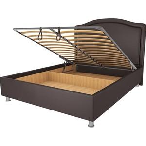 Кровать OrthoSleep Калифорния шоколад механизм и ящик 140х200