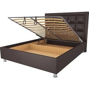 Кровать OrthoSleep Альба шоколад механизм и ящик 140х200