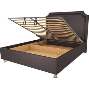 Кровать OrthoSleep Федерика шоколад механизм и ящик 140х200
