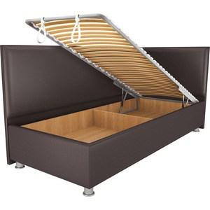 Кровать OrthoSleep Бибионе Лайт механизм и ящик Сонтекс Умбер 80х200 кровать orthosleep арно lite механизм и ящик сонтекс умбер 80х200