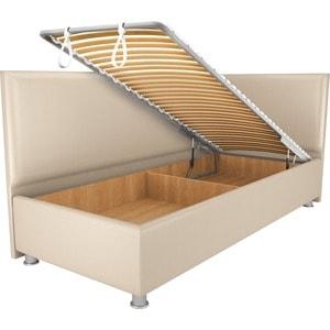 Кровать OrthoSleep Бибионе Лайт механизм и ящик Сонтекс Беж 90х200 кровать orthosleep бибионе лайт жесткое основание сонтекс беж 90х200