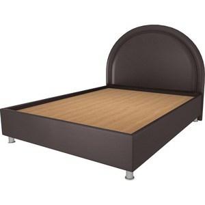 Кровать OrthoSleep Аляска шоколад жесткое основание 200х200