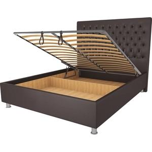Кровать OrthoSleep Рио шоколад механизм и ящик 140х200