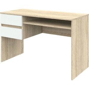 Письменный стол ВасКо Рино 206 дуб сонома/белый глянец 120 см письменный стол 120 см рино 206 корпус дуб сонома фасады белый глянец шатура рино