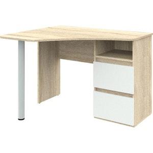 Угловой письменный стол ВасКо Рино 207 дуб сонома/белый глянец