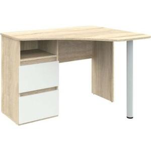Угловой письменный стол ВасКо Рино 212 дуб сонома/белый глянец
