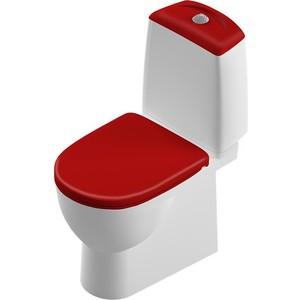 Унитаз компакт SANITA LUXE Best Color Red бело/красный с сиденьем микролифт (SL900307) унитаз компакт vidima сириус с сиденьем микролифт w912961