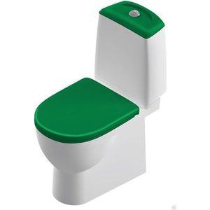 Унитаз компакт SANITA LUXE Best Color Green бело/зелёный с сиденьем микролифт (SL900308)
