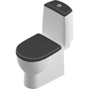 Унитаз компакт SANITA LUXE Best Luxe Black с сиденьем дюропласт микролифт Click-up, черный (BSTSLCC06100522) полуботинкиsanitaluxбелые 02905701 р 39