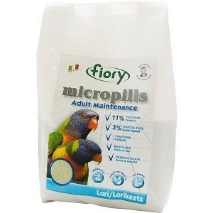 Корм Fiory Micropills Adult Maintenance Lori/Lorikeets для попугаев Лори 1,5кг