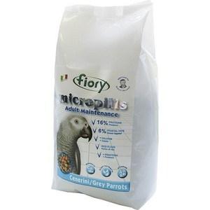 Корм Fiory Micropills Adult Maintenance Cenerini/Grey Parrots корм для серых африканских попугаев 2,5кг пудовъ мука ржаная обдирная 1 кг
