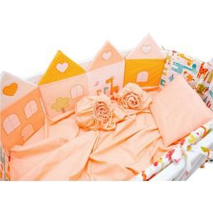 Комплект для овальной кроватки Valle Grace оранжевый 8 пр. (VA92490) система хранения el casa el casa mp002xu0dwgr
