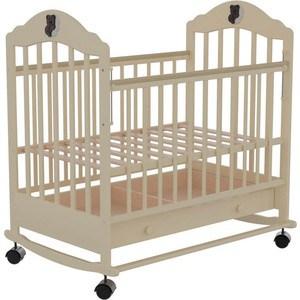 Кроватка Briciola Briciola-7 колесо-качалка авт. с ящиком слоновая кость (BR0711) кроватка с маятником sweet baby eligio avorio слоновая кость