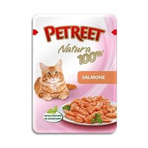 Паучи Petreet Natura Salmon лосось для кошек 85г petreet natura tonno rosa con calamari