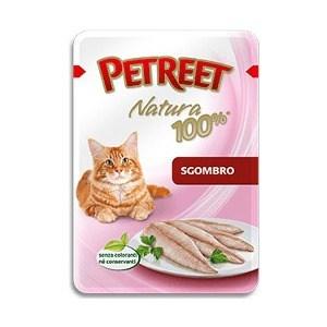 Паучи Petreet Natura Mackerel макрель (скумбрия) для кошек 85г petreet natura tonno rosa con calamari