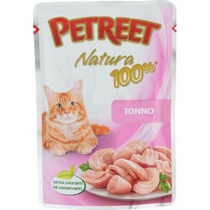 Паучи Petreet Natura Tuna тунец для кошек 85г petreet natura tonno rosa con calamari