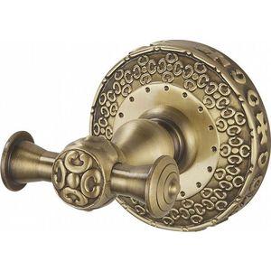 Крючок двойной ZorG Antic бронза (AZR 02 BR) донный клапан zorg antic для раковины бронза azr 2 br