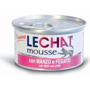 Консервы Lechat Cat Mousse with Beef and Liver мусс для кошек 85г