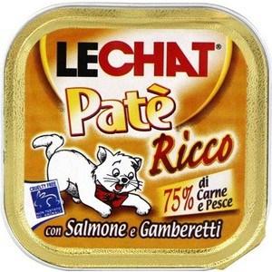 Консервы Lechat Cat Pate Salmon and Shrimp с лососем и креветками паштет для кошек 100г креветки black shell shrimp 10 30