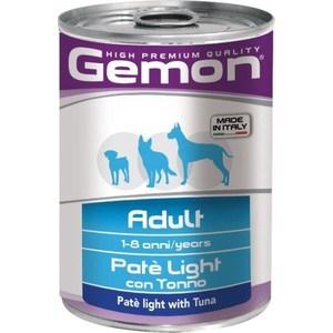 Консервы Gemon Dog Light Pate with Tuna облегченный с тунцом паштет для собак 400г мур р рыбка нежный паштет из тунца