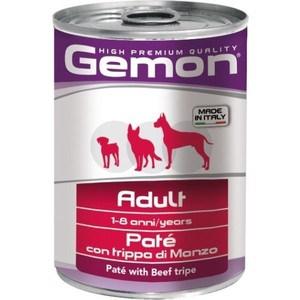 Консервы Gemon Dog Adult Pate with Beef Tripe с говяжим рубцом паштет для собак 400г