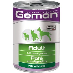 Консервы Gemon Dog Adult Pate with Lamb с ягненком паштет для собак 400г сухой корм happy dog supreme sensible adult 11kg neuseeland lamb