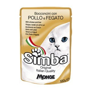 Паучи Simba Petfood Cat Chunkies with Chicken and Liver с курицей и печенью паштет для кошек 100г